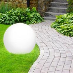 Kugelleuchte mit LED E27 Ø 40 cm weiß aus Kunststoff ML-Design