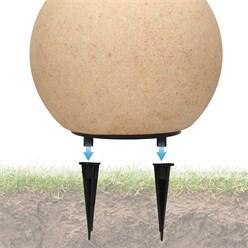 Kugelleuchte mit LED E27 Ø 20 cm steinoptik aus Kunststoff ML-Design
