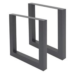 ML-Design 2er Set Tischbeine, anthrazit, 70x72.5 cm, aus Stahl