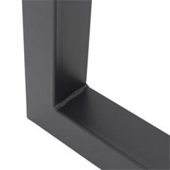 ML-Design 2er Set Tischbeine, anthrazit, 60x72,5 cm, aus pulverbeschichtetem Stahl