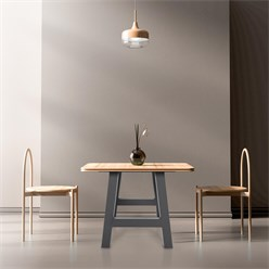 ML-Design 2er Set Tischbeine A-Form, 70x72 cm, aus Stahl