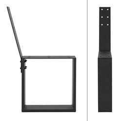 ML-Design 2er Set Bankbeine, schwarz, 40x78,5 cm, aus Stahl