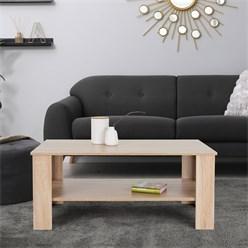 ML-Design Couchtisch Sonoma Eiche, 100x43x57 cm, aus Spanplatte und Holzoptik mit Melaminbeschichtung