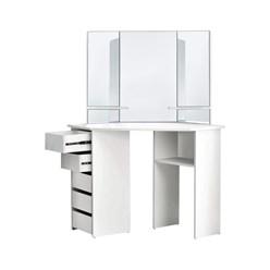 ML-Design Schminktisch mit 3 Spiegel, weiß, 110x141,5x54 cm, aus MDF Spanplatte