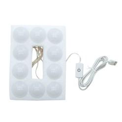 ML-Design Schminktisch mit LED-Beleuchtung, weiß/sonoma, 110x141,5x54 cm, aus MDF Spanplatte