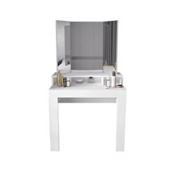 ML-Design Schminktisch mit Spiegel, weiß, 89,5x155x43,5 cm, aus MDF Spanplatte