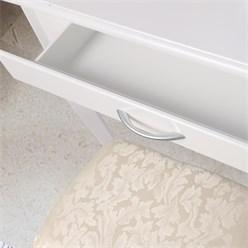 ML-Design Schminktisch mit Hocker, weiß, 75x140x40 cm, aus MDF Spanplatte