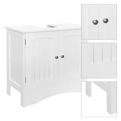 ML-Design 4er Set Badmöbel weiß, aus MDF Spannplatte