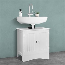 ML-Design Waschbeckenunterschrank weiß, 60x30x60 cm, aus MDF Spannplatte