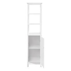 ML-Design Badezimmerschrank weiß, 40x160x32 cm, aus MDF Spanplatte