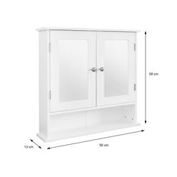ML-Design Spiegelschrank weiß, 56x58x13 cm, aus MDF Spannplatte