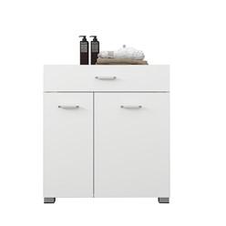 Wäscheschrank 75x78,5x45 cm weiß aus MDF Spanplatte ML-Design