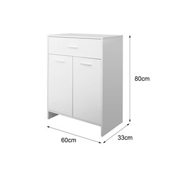 ML-Design Badezimmerschrank weiß, 60x80x33 cm, aus MDF