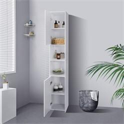 ML-Design Badezimmerschrank weiß, 30x190x30 cm, aus MDF