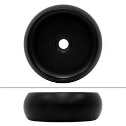 Waschbecken Ø 35x30 cm schwarz aus Keramik ML-Design