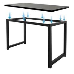 ML-Design Schreibtisch schwarz, 120x60x75 cm, aud MDF und Metall pulverbeschichtet
