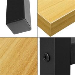 ML-Design Schreibtisch athorn-schwarz, 120x60x75 cm, aus MDF und Metall pulverbeschichtet