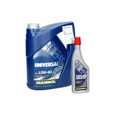 5L Mannol 15W-40 Universal Motoröl API SG/CD + 175ml Öl Additiv 9998 Motorschutz