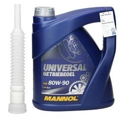 Mannol Universal Getriebeöl 80W-90 4L, mit Auslaufschlauch