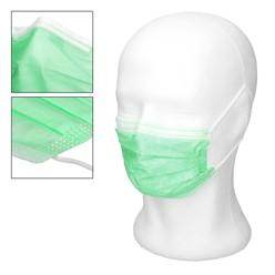 50 Stück Einwegmasken 3-lagiges Vliesmaterial Türkis Gesichtsmaske