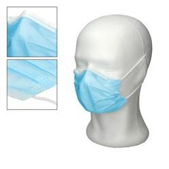 50 Stück Einwegmasken für Kinder 3-lagig Vliesmaterial Blau