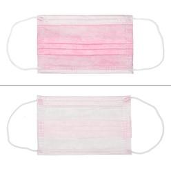 50 Stück Einwegmasken für Kinder 3-lagig Vliesmaterial Pink