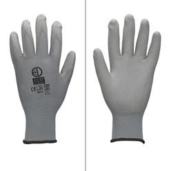 1 Paar Arbeitshandschuhe mit PU-Beschichtung, Grau, Größe XL