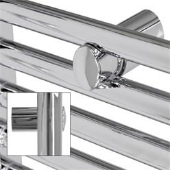 """Badheizkörper """"Sahara"""" gebogen mit Mittelanschluss Chrome 500 x 1100 mm"""