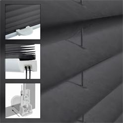 Plissee Dunkelgrau, 100x100 cm, inkl. Befestigungsmaterial