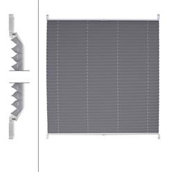 Plissee Grau 100 x 150 cm