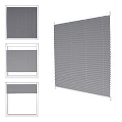 Plissee Grau 45 x 100 cm