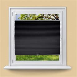 Plissee Schwarz, 70x150 cm, inkl. Befestigungsmaterial