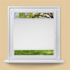 Plissee Weiß, 65x100 cm, inkl. Befestigungsmaterial