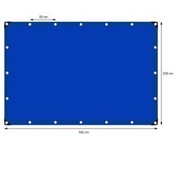 Abdeckplane mit Ösen, 2x3 m 180g/m², Blau, aus Polyethylen Gewebe mit beidseitiger Polyethylen-Beschichtung
