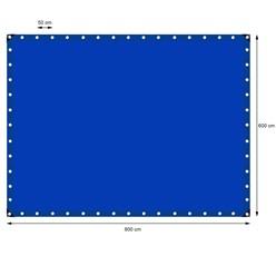 Abdeckplane mit Ösen, 6x8 m 180g/m², Blau, aus Polyethylen Gewebe mit beidseitiger Polyethylen-Beschichtung