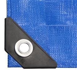 Abdeckplane mit Ösen, 1.5x12 m 180g/m², Blau, aus Polyethylen Gewebe mit beidseitiger Polyethylen-Beschichtung
