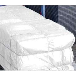 Abdeckplane mit Ösen, 2x3 m 180g/m², weiß, aus Polyethylen