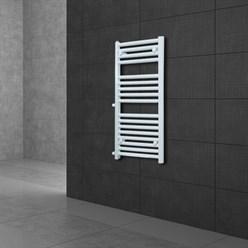"""Badheizkörper """"Sahara"""" gerade mit Seitenanschluss 500 mm Weiß 600 x 1200 mm"""