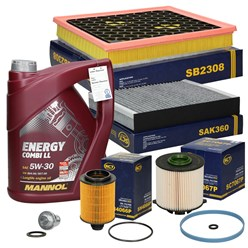 Inspektionspaket Opel Insignia A 2.0 CDTI mit 5L Öl 5W30 Energy Combi