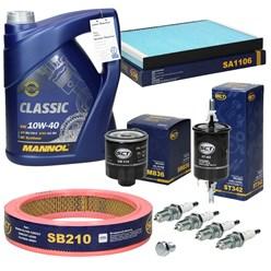 Inspektionspaket + Mannol Classic 10W-40 5L, Seat Arosa (6H), VW Polo (6N)