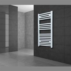 """Badheizkörper """"Sahara"""" gebogen mit Außenanschluss Weiß 600 x 1800 mm"""