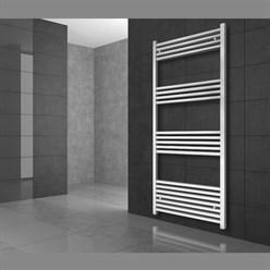 """Badheizkörper """"Sahara"""" gerade mit Außenanschluss Weiß 500 x 1800 mm"""