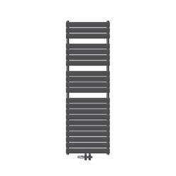 Badheizkörper Steam Design 600x1576 mm, Anthrazit, Boden Anschlussgarnitur