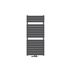 Badheizkörper Steam Design mit Mittelanschluss 600x1186 mm Anthrazit inkl. Anschlussgarnitur mit Thermostat Eckform