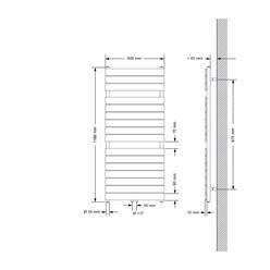 Badheizkörper Steam Design mit Mittelanschluss 600x1186 mm Anthrazit Einlagig