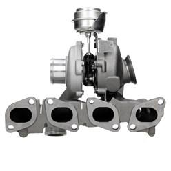Turbolader mit Unterdruckdose und Abgaskrümmer für Opel