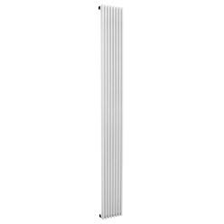 Designheizkörper 195 x 2000 mm Weiß mit Seitenanschlus