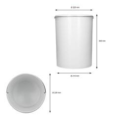 Mülleimer Einsatz 11L Grau