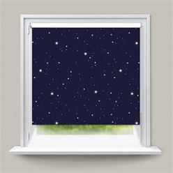 ECD Germany Store enrouleur double 100 x 230 cm - Bleu avec étoiles - Klemmfix - sans perçage - avec supports de serrage - pare-soleil- matériel de fixation inclus - store occultant