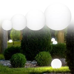 Kugelleuchten im Set mit LED Ø 30/40/50 cm in weiß aus Kunststoff ML-Design
